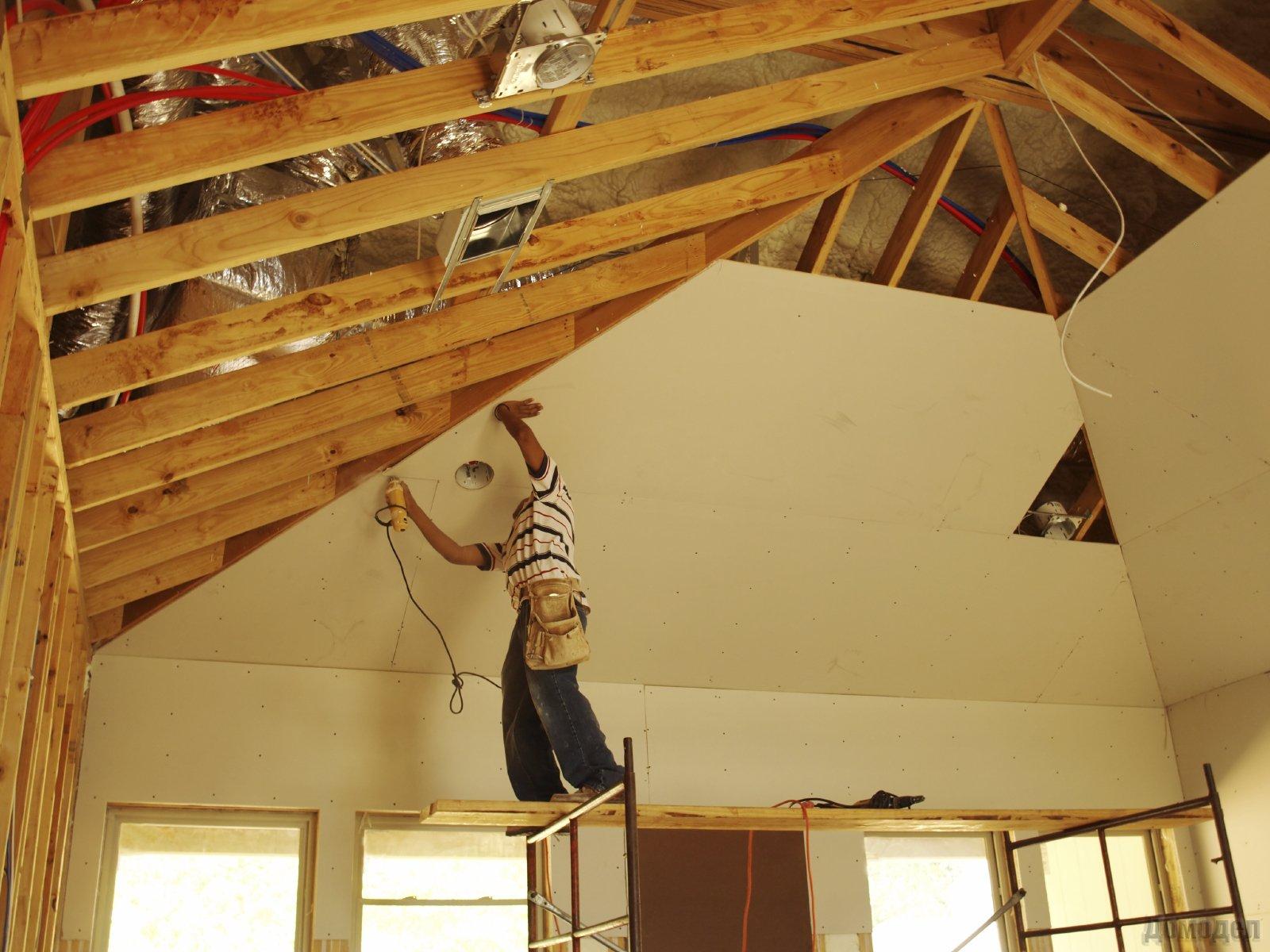 Потолок в частном доме своими руками (80 фото как сделать самому) 47